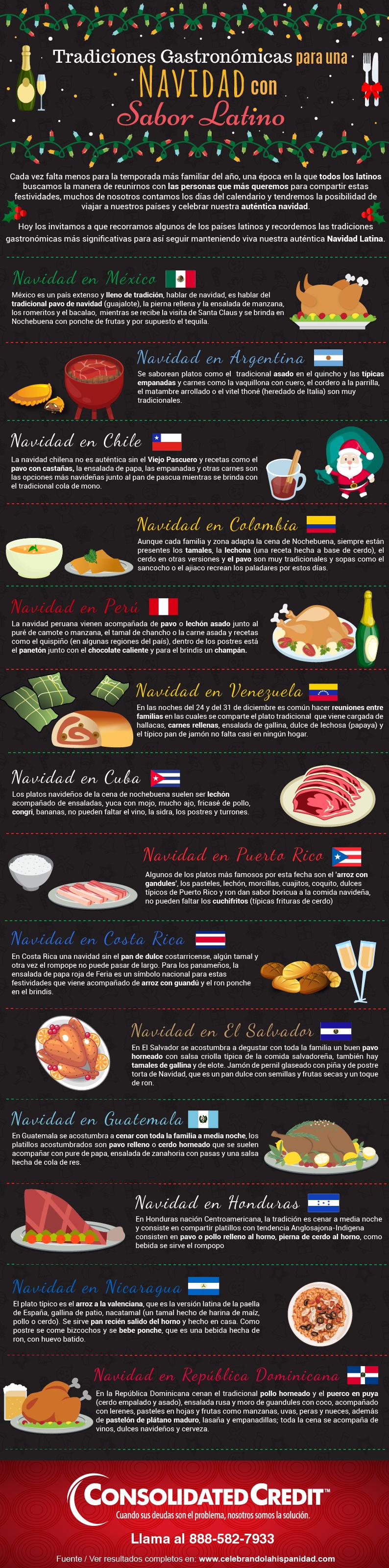 infografia Tradiciones Gastronómicas para una Navidad con Sabor Latino