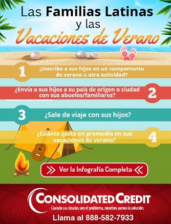 familias latinas en vacaciones de verano